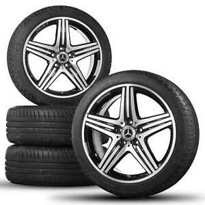 Mercedes-18-Zoll-A-Klasse-A45-AMG-W176-W245-Alufelgen-Sommerreifen-Sommerraeder