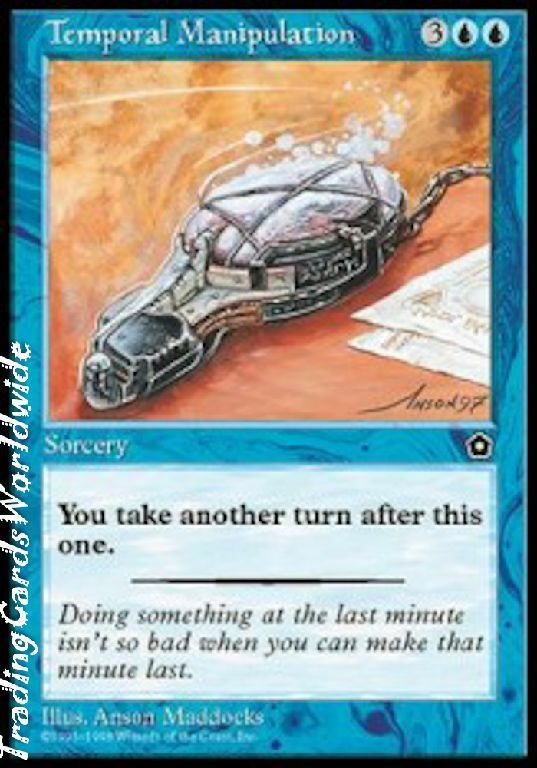 Temporal manipulation    NM    Portal Second Age    Engl.    Magic the Gathering