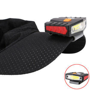 Infrared Induction LED USB Rechargeable Clip On Cap Hat Light Headlamp Hiking US