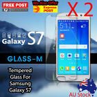 "2 X Tempered Glass For Samsung Galaxy S7 5.1"" Screen Protector Smart phone"