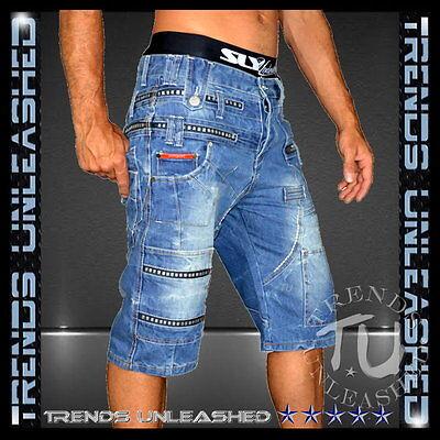 New Men's Denim Shorts SIZE 30 31 32 33 34 35 36 37 38 Blue Short Jeans Man