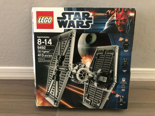 lego star wars 9492 Tie Fighter w// Box Missing Instructions Read Description
