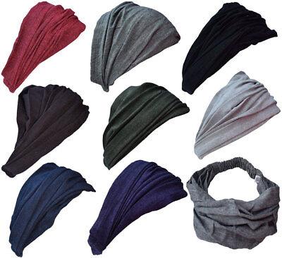 Hippie Boho Mehrfarbig Dehnbar Baumwolle Handgefertigt Doppel Stirnband Kopftuch