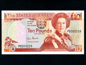 10 pounds Jersey UNC ND 2000 QEII Pick 28