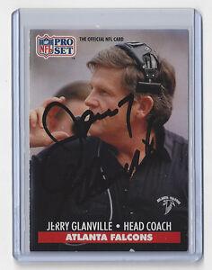 1991 FALCONS Jerry Glanville signed card Pro Set #99 AUTO Autographed Atlanta