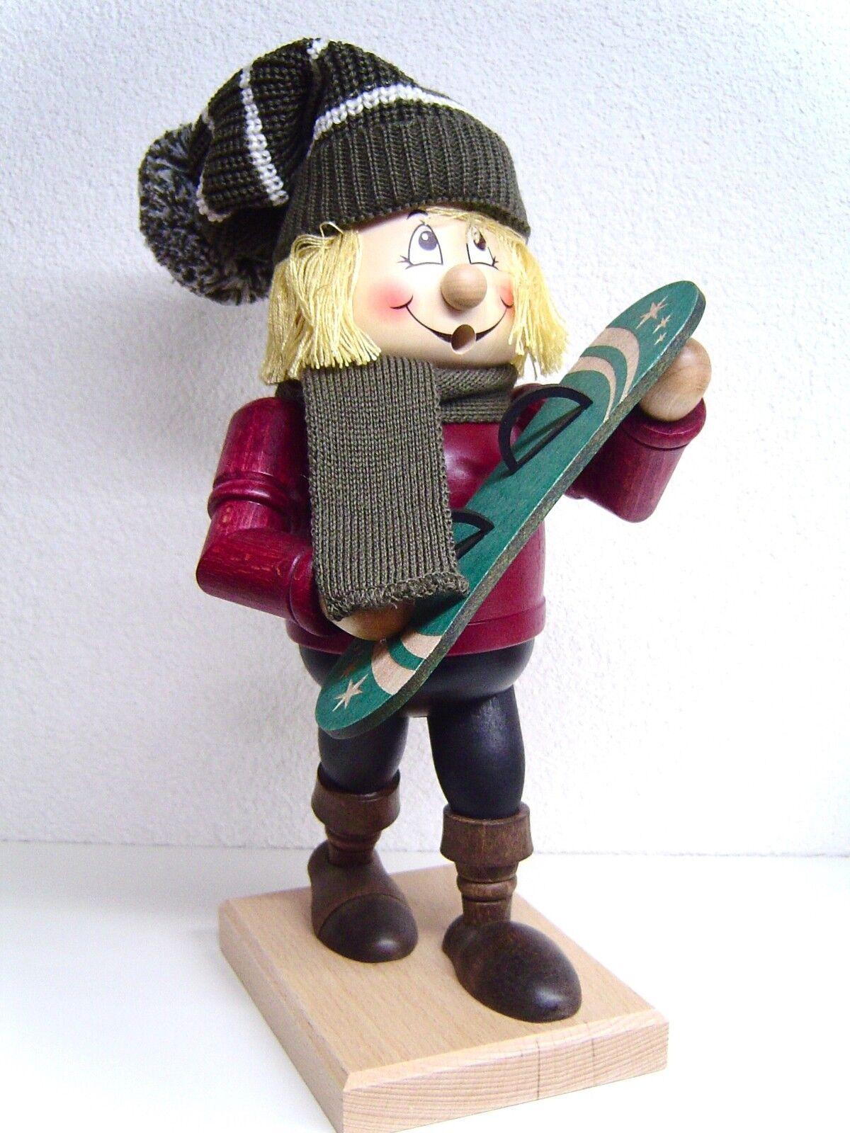 Riesen Räuchermann Räucherfigur Wichtel Winterkind Snowboarder Farbig 31cm 31cm 31cm 15977 68baaa