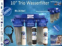 10 Trio-wasserfilter Brunnen Eisenfilter 1 Anschluss 10 Bar Hausfilter Garten