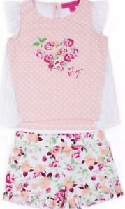 NWT-BABY-GIRL-2pc-FLORAL-LACE-BETSEY-JOHNSON-OUTFIT-SIZE-12-18m