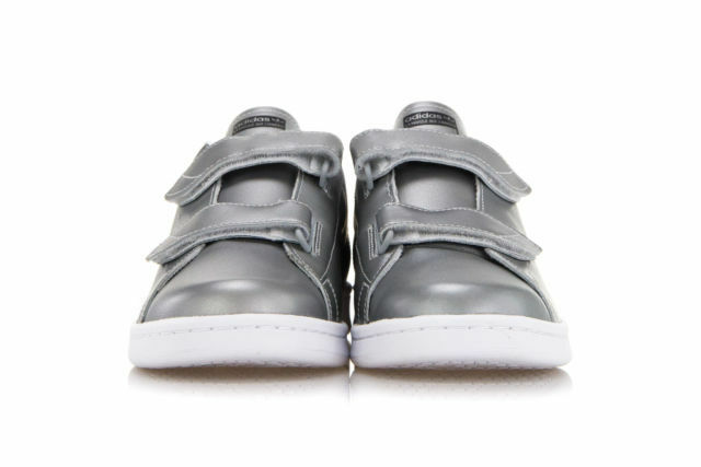ADIDAS Sneakers Straps FAST STAN SMITH Silver Leather Double Straps Sneakers UK 5 EU 38 NH06 60 f5e5c0