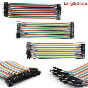 40XJump-Wire-Jumper-Cables-20cm-M-M-M-F-F-F-1P-1P-Pour-Breadboard-New