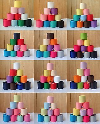 """10 20YDs 1"""" Mixed Solid Grosgrain Ribbon Bow Festival Party Scrapbook Craft Lot"""