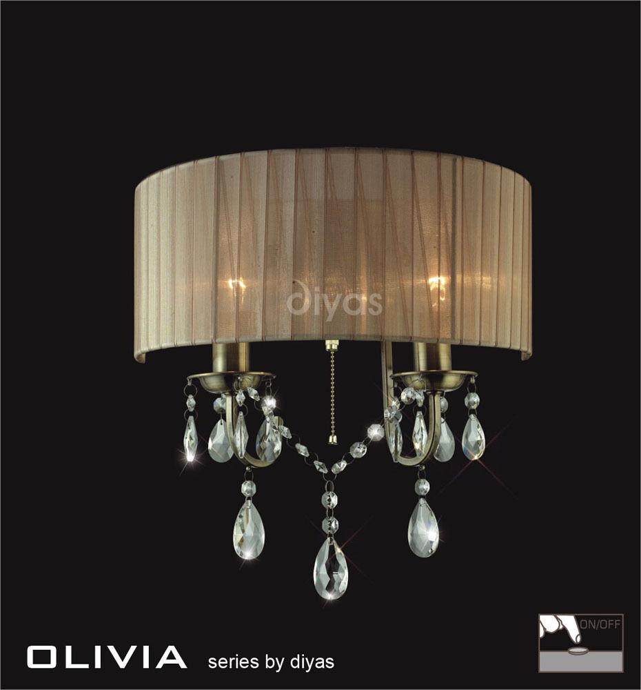 Diyas IL-IL30064/SB Olivia Paroi Double Lumière Laiton Laiton Laiton Antique/SOFT BRONZE gaze | Au Premier Rang Parmi Les Produits Similaires  b37d57