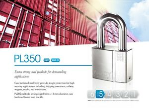 ABLOY-PL-350-50T-PROTEC2-HIGH-SECURITY-PICKPROOF-LONG-SHACKLE-LOCK-w-3-KEYS-amp-ID