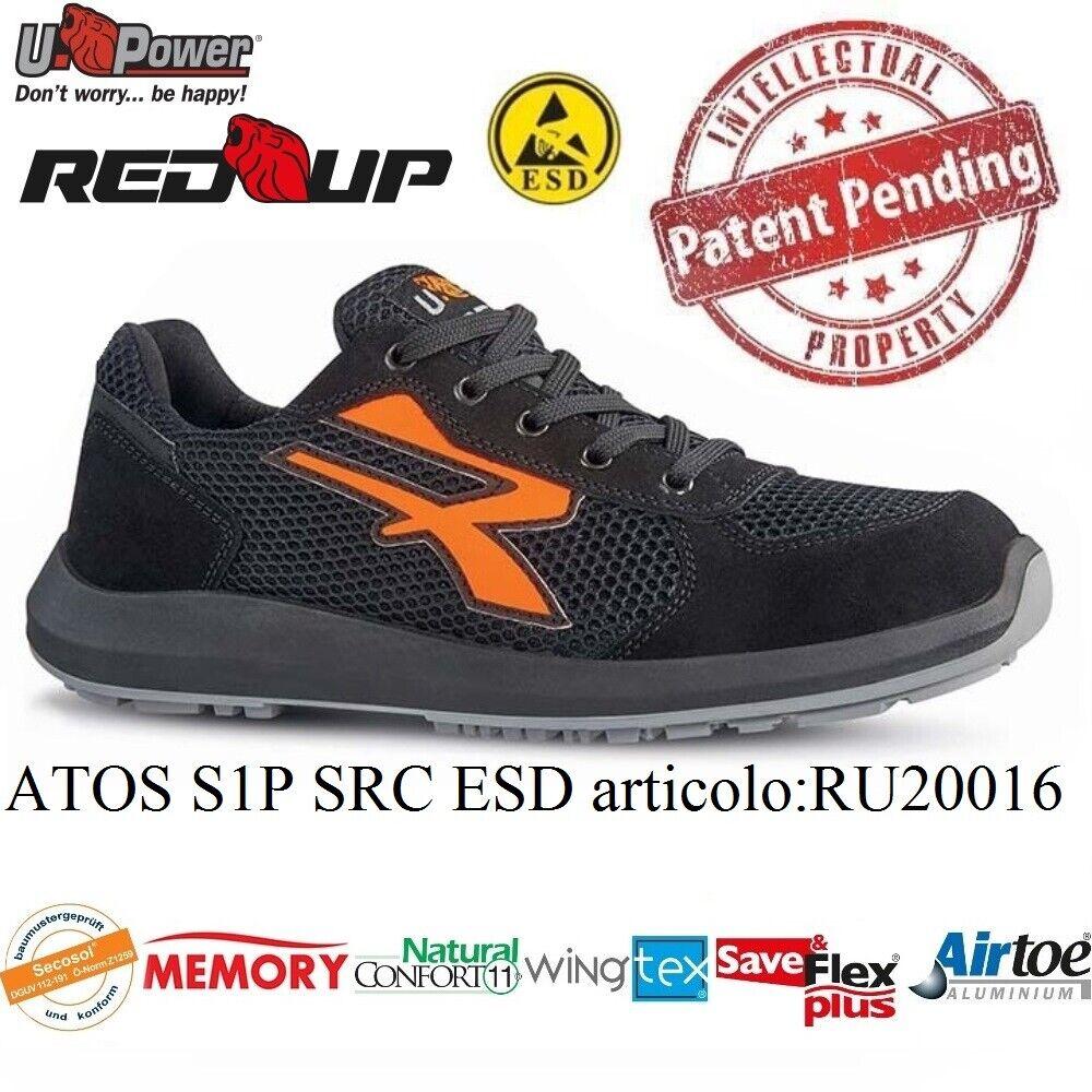 UPOWER zapatos LAVoro ANTINFORTUNISTICA ATOS S1P SRC ESD U-POWER RU20016 rojo UP +
