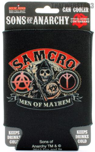 Sons of Anarchy SAMCRO Men of  Mayham Can Cooler Beer Koozie Soda Coozie Huggie