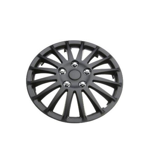 """Lightning Black 14/"""" Wheel Cover Hub Caps Set Ideal For Toyota Corolla"""
