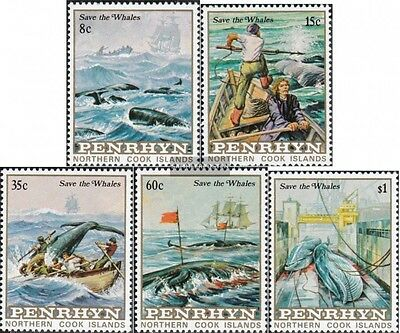 Ambitious Penrhyn 310-314 Mint Never Hinged Mnh 1983 Protection The Whales