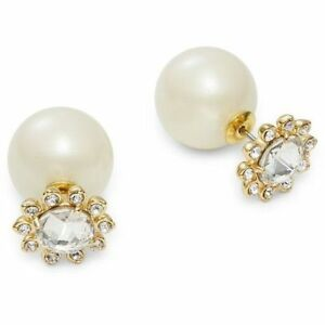 9fd2ceddb5 Details about NWT KATE SPADE REVERSIBLE FLOWER FRONT JUMBO PEARL BACK  EARRINGS DAISY CRYSTALS