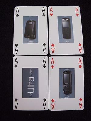 c2006 PACK DECK of ADVERTISING PLAYING CARDS - SAMSUNG MOBILE PHONE - ULTRA