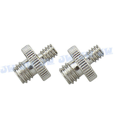 "2pcs 1/4"" Male Threaded to 3/8"" Male Threaded Double Male Screw Camera Adapter"