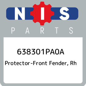 638301PA0A-Nissan-Protector-front-fender-rh-638301PA0A-New-Genuine-OEM-Part