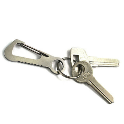 Quick Release Carabiner D-Ring Clip Snap Hook Climbing Key Chain Hiking Supply