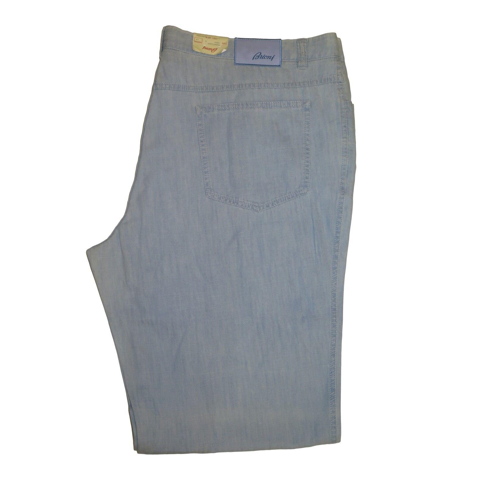 Brioni Men's Marmolada Light bluee 100% Cotton Lightweight Denim Jeans Pants 30