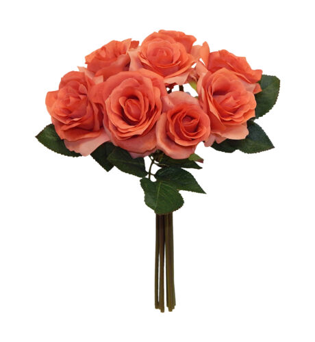 9 Roses Bouquets ~ MANY COLORS ~ Centerpieces Bridal Silk Wedding Flowers Decor