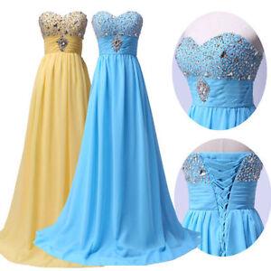 Classic-Sequin-Strapless-Celebrity-Women-Aura-Bridesmaid-Prom-Dress-Chiffon-Long
