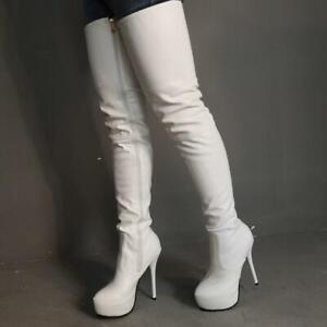 50 51 52 Damenpumps Spitz Reißverschluss High Heels Party Stilettos Stiefeletten