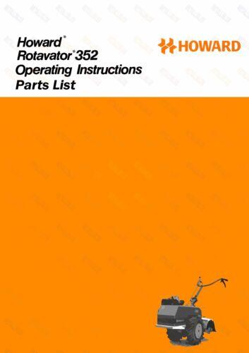 RARA Howard 352 operativo//allegati E MANUALE ILLUSTRATO elenco delle parti