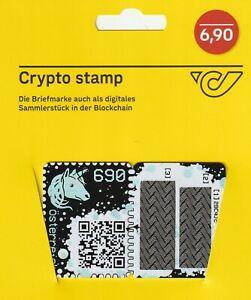 Crypto-Briefmarke-ungebraucht-034-blau-034