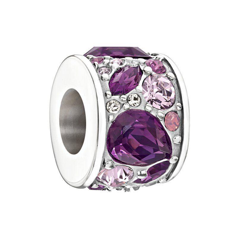 Chamilia Sterling Charm- Mosaic Purple Bead