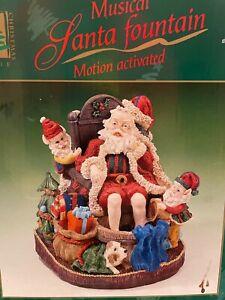 Rare & Vintage Christmas Musical Santa Fountain Hand Painted - Plays 8 Songs