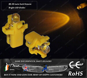 LED-B8-3D-Amber-Yellow-Dashboard-Cluster-Speedo-Instrument-Gauge-Light-Bulbs-12v
