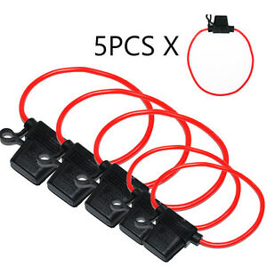 5x-KFZ-Sicherungshalter-ATC-ATO-3-5mm-30A-Flachsicherung-Spritzwassergeschuetzt