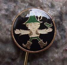 Antique Rumcajs Cipisek Czech Classic Childrens Cartoon Character Pin Badge