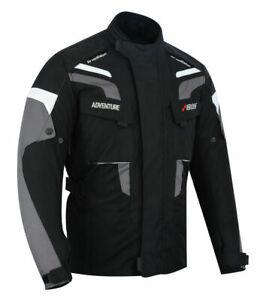 Winter-Motorrad-Wasserdicht-Jacke-Schwarz-Herren-Motorrad-Jacke-Wasserdicht-Neu