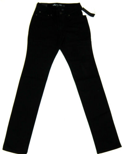 "KENNETH COLE Ladies Straight Leg Black Jeans 26/"" Waist x 33/"" Leg Trousers BNWT"