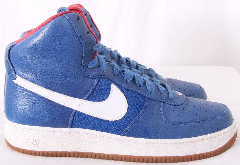 Nike 318431-441 Air Force 1 Hi Premium Varsity Bobbito Sneakers Men's US 11
