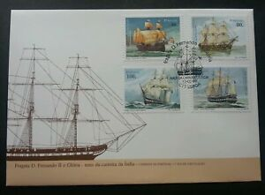 SJ-Portugal-Sailboat-1997-Ship-Transport-Vehicle-Boat-Ocean-Sea-stamp-FDC