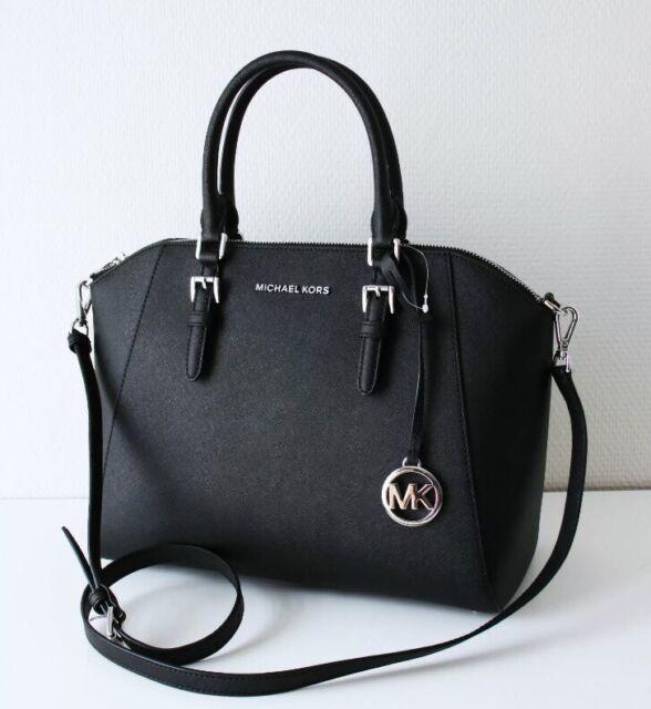 Michael Kors Ciara LG TZ Satchel saffianoleder BLACK 35h5sc6s3l
