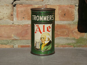 Very-Rare-Trommer-039-s-Ale-Flat-Top-Beer-Can-With-Opening-Instructions