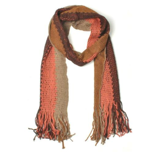 VTG Style Striped Stripy Woolly Scarf 3 Colours BNWT NEW