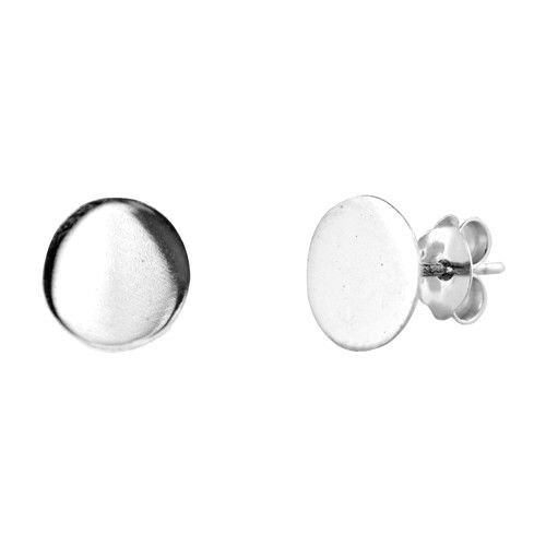 USA Seller Small Circle Earrings Genuine Sterling Silver 925 Face Height 6 mm