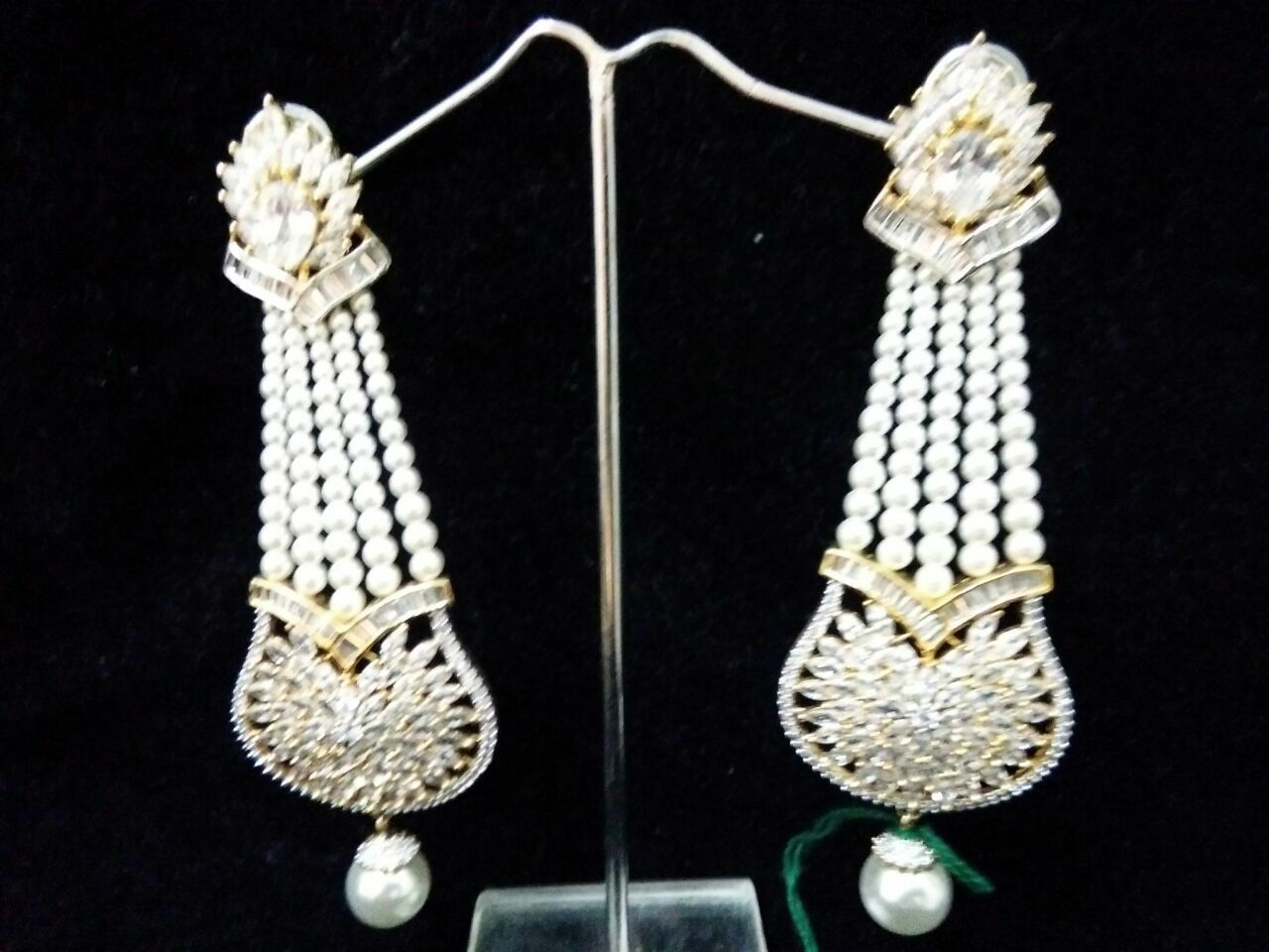Traditional Danglers earring for women fashion jewelry color white