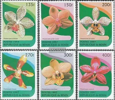 Topical Stamps Benín 943-948 Nuevo 1997 Orquídeas Finely Processed