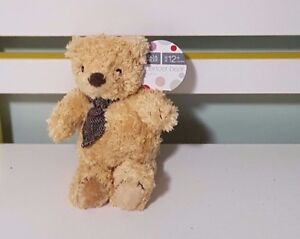 MARKS-AND-SPENCER-PROMOTIONAL-TEDDY-BEAR-PLUSH-TOY-SOFT-TOY-ABOUT-14CM-SEATED