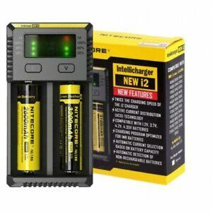 NITECORE-i2-Chargeur-Nouveau-I2-Intellicharge-18650-26650-20700-16340-Batterie-UK-Plug