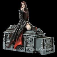 *AWAIT THE NIGHT* Fantasy Vampire Art Figurine Trinket Box By Anne Stokes [17cm]